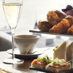 Afternoon Tea för en med champagne
